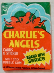 "collector cards & sticker for ""brand new series"" - 'Charlie's Angels' 1977"