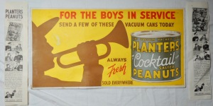Planters Cocktail Peanuts For Boys in Service Poster