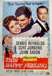 This Happy Feeling 1958 Movie Poster Debbie Reynolds