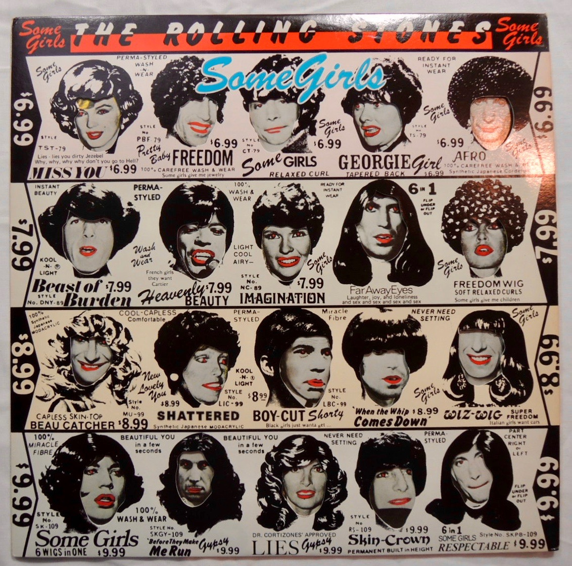 "ROLLING STONES ""Some Girls"" Vinyl LP Banned Album Cover Art"