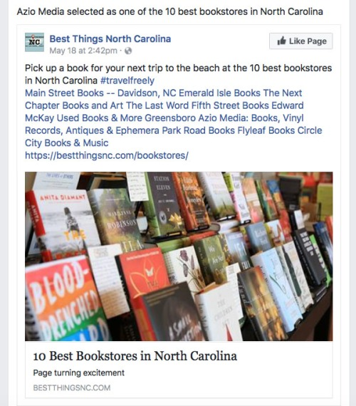AZio Media Best Bookstores in NC